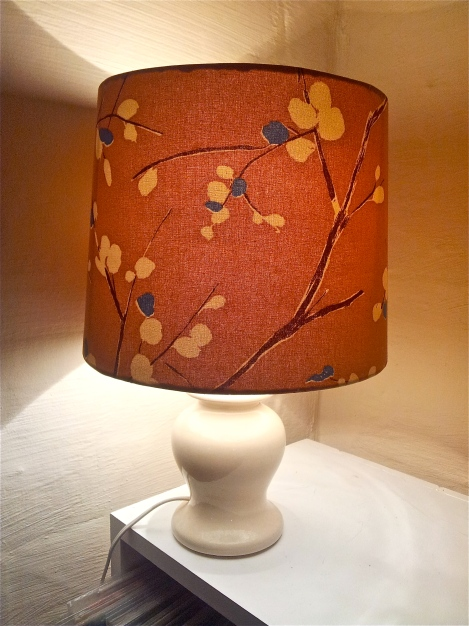 upcycled-designer-lampshade-with-refurbished-vintage-base-in-gorgeous-dusky-pink-fabric-handmade-in-Canberra