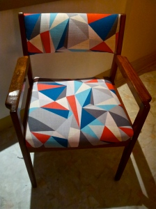 Upcycled-and-refurbished-retro-vintage-chair-in-designer-upholstery-fabric-at-the-Lost-and-Found-Office-in-Canberra