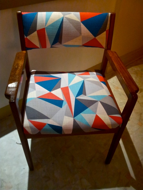 Upcycled-and-refurbished-retro-vintage-chair-in-designer-upholstery-fabric-created-at-the-Lost-and-Found-Office-in-Canberra
