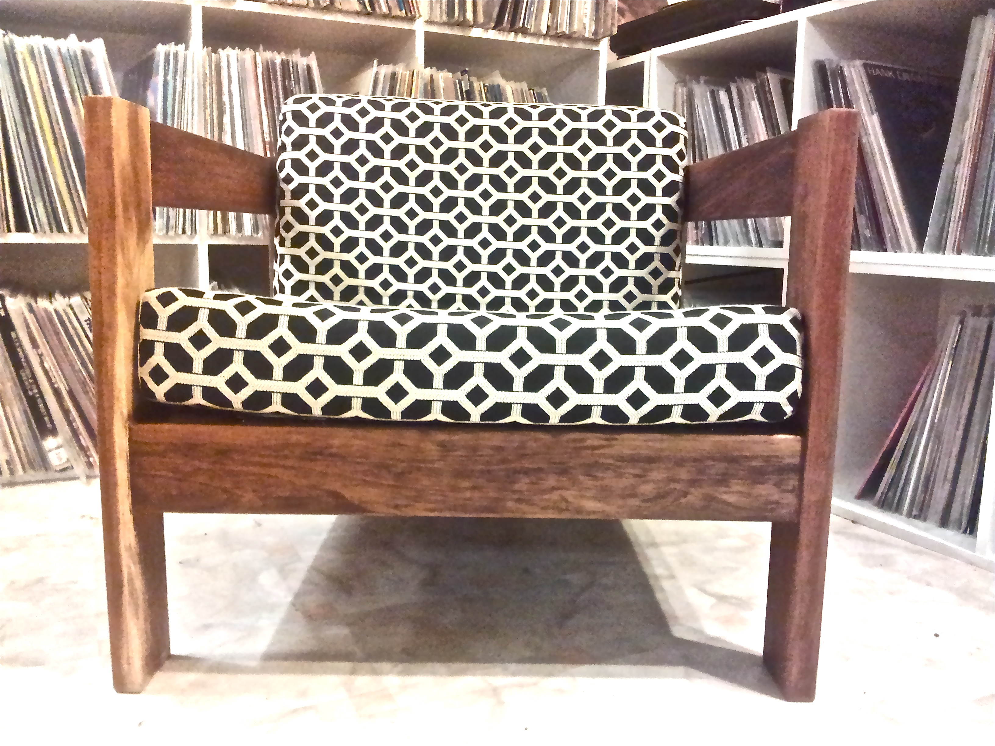 Upcycled And Refurbished Retro Vintage Chair In Designer