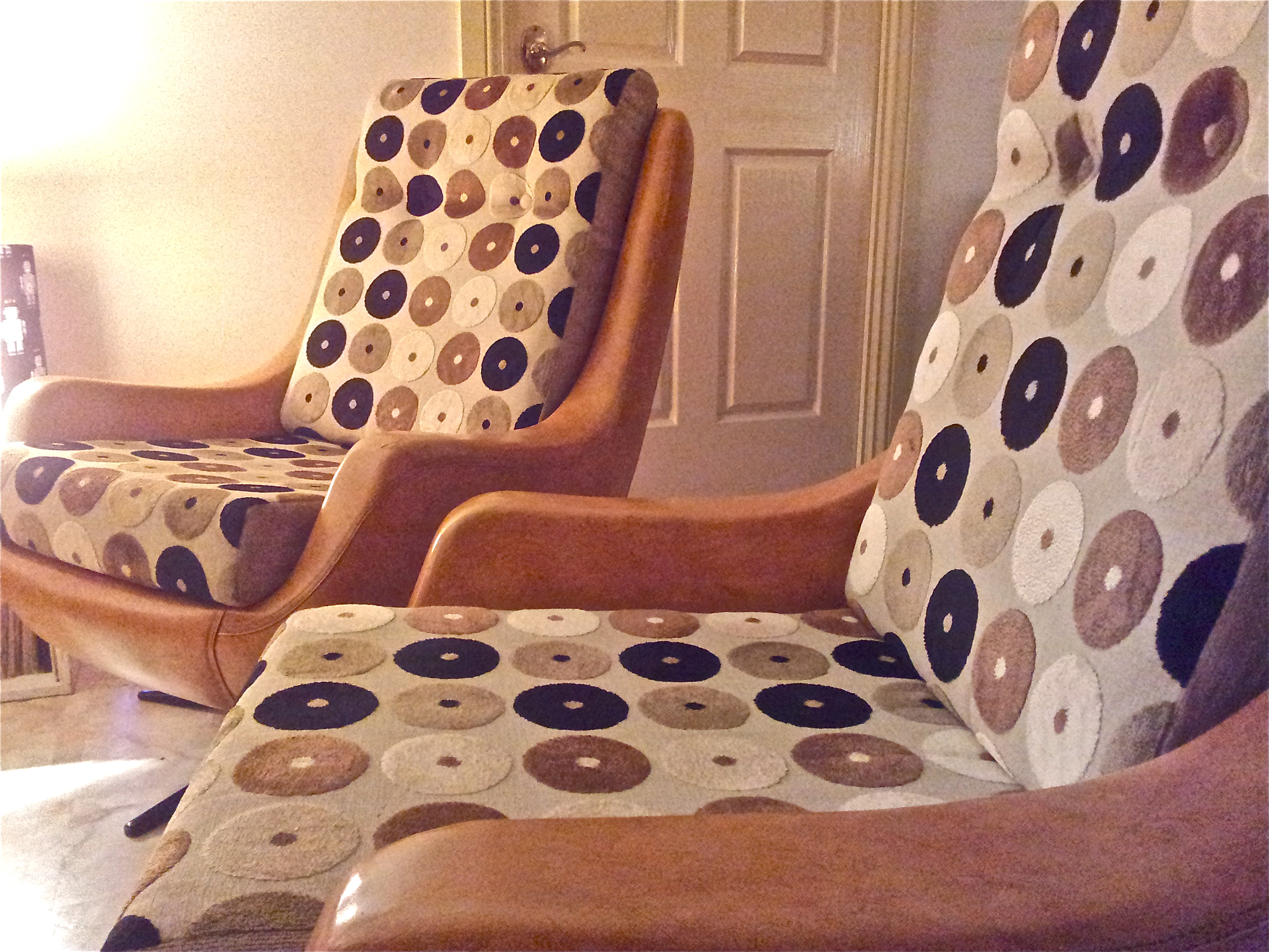 Office Chair Upholstery Fabric.  Upcycled And Refurbished Retro Vintage Chairs