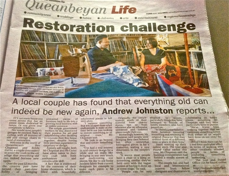 A-news-story-about-our-furniture-restoration-refurbishment-and-creative-business-in-The-Queanbeyan-Age