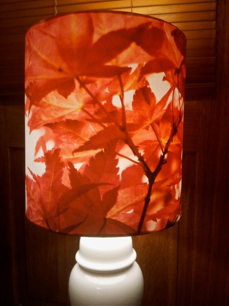 handmade-designer-lampshade-with-vintage-base-showing-digital-print-of-autumn-leaf-photograph-a-collaboration-between-The-Lost-And-Found-Office-Australia-and-the-photographer-MissGen-London-UK