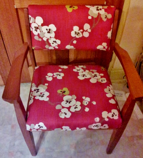 salvaged-vintage-chair-upholstered-in-superb-English-blossom-flower-linen-fabric-by-Romo-refurbished-by-the-Lost-andFound-Office-Canberra-Queanbeyan-NSW-Australia