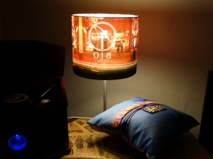 handmade-custom-photographic-lampshade-and-cushion-created-by-Bobby-Cerini-Kath-Hagan-derived-from-images-by-Peter=Lindberg-Sigrid-Lundberg-of-Filmstaden-Sweden-licensed-under-creative-commons-Flickr